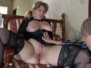 Busty mature with small tits anal and hairy pussy
