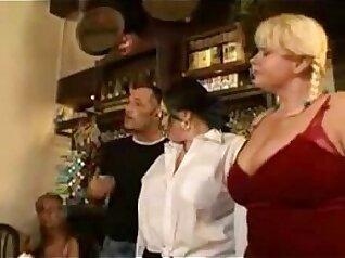 BBW party sluteds Samantha Haze and Raquel Sanchez enjoy a dick fucking