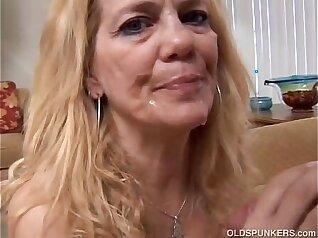 Blonde Mature Sucking On Her Mules Shoulder