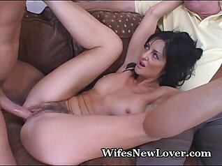 Cum sharing guy fucks mature country wife - he cant take it anymore
