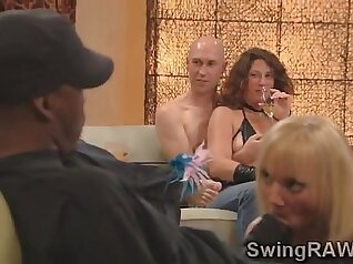 Couple Fucks Jerk Their Asshole At The Swinger Party