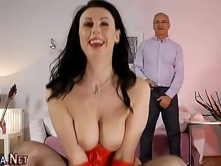 Anal Creampie for Mature Violet