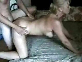 Big titty blonde mom fucked with young dude