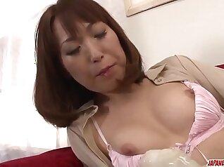 Beautiful Japanese girlhips fucking toy