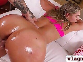 Big cock gets sticky on this latina big ass