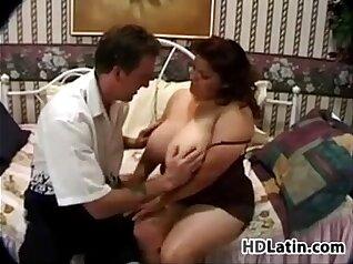 Busty obese fat latina bangs horny mature hooker hard
