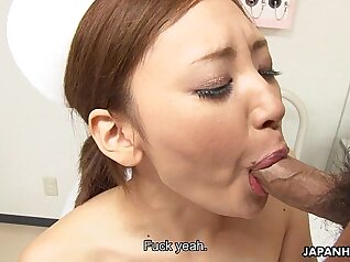 Asian Nurse plays with her juicy pussy during liza fox porn scene