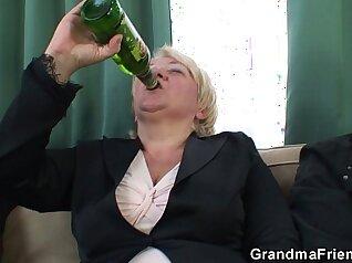 Big Titty Granny Gets Double Penetration