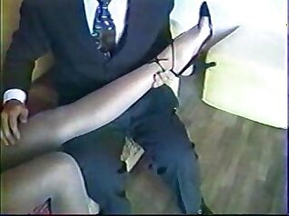 Couple going dirty with still tight eyed pantyhose