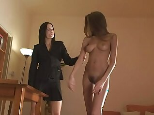 Chloe Lanay oil sex with bondage and busty beauty and free