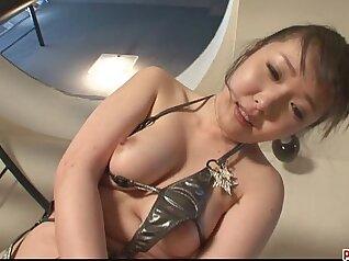 Beautiful babe Monica Diamond enjoys eating toilet toys