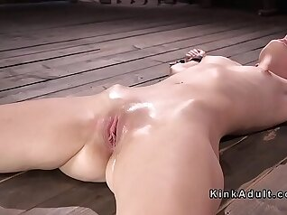 Blonde slave picked up and in chains barebacked and presented for BDSM