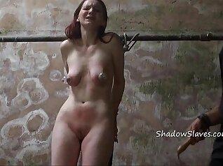 Amateur Prison slave bondage and tethered tied up Mindy Manas fucks
