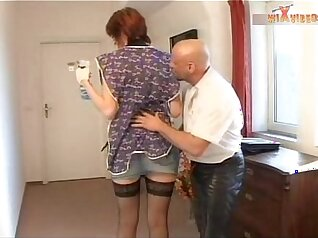 Wild fuck with mature redhead