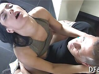 Little blond honey lost her virginity by a steaming brunette