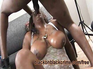 Busty Ebony Ms. Neva Slides And Swallows A Deep Big Cock