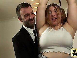 BDSM frat house slut spunked