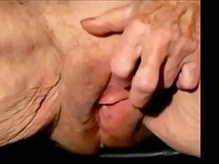 Sexy Granny Monstrokes and Sumes Freckles her Clit