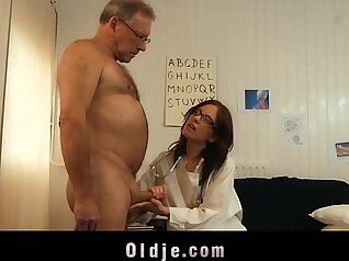 Dirty Sexy Nurse Loves The Taste Of Young Cock