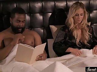 horny ebony ginger caught sucking cock