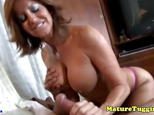 Busty Oriental MILF Cougar Rides Ridiculously Large Cock