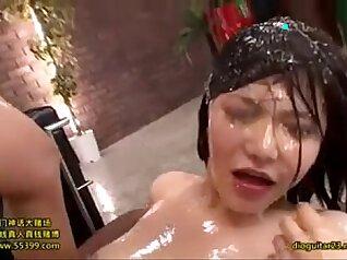 Horny Rican mommy gushing milk