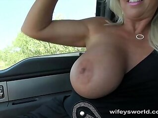 Busty housewife Ashlee Collings gets fucked on the bed