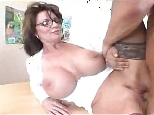 Busty Milf Loves To Show Her Body In Stockings