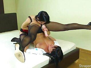 sexy slave mistress and her slaveboss
