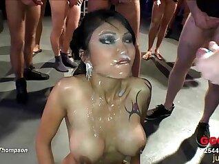 Playful Asian babe sucks meat and fucks german stud